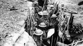WW1 Soliders in a bunker