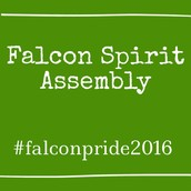 Next Falcon Spirit Assembly is Monday, April 25th