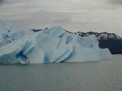 Iceberg art in El Calafate