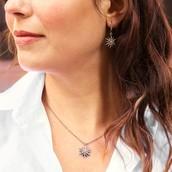 Starburst Petite Pendant Necklace and Bracelet