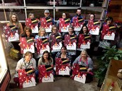 """McCarroll staff paints """"Frosty"""" together!"""