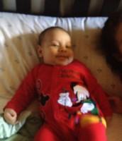 Alejandro en su primera Navidad