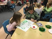 Painting with our preschool friends