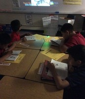 Students followed along with their new books