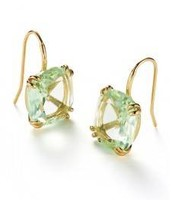 Cushion Drop Earrings Mint