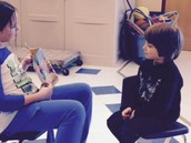 3rd Graders working with 1st Graders