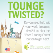 The Peer Tutoring Center is awesome!