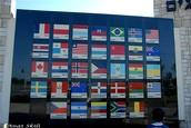 דגלי המדינות שהצביעו בעד הקמת מדינת ישראל.