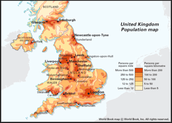 UK's population by area