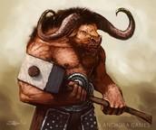 Minotaur in battle