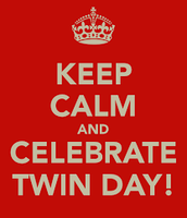 We'll Be Seeing Double on Friday, April 8th. Student Council Presents Twin Day
