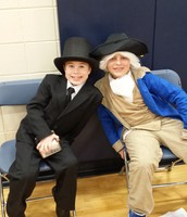 Abe Lincoln and George Washington