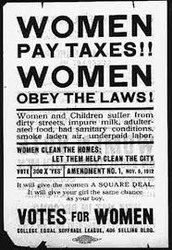 What rights other did women lack in the mid-1800s?