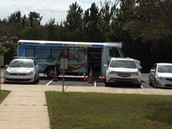 Bookmobile visits every Monday