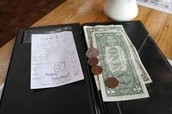 Showing Gratuity & How to figure it on a Bill