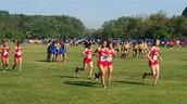 Run-outs before the Varsity race!  Go Vikings!