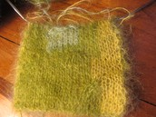 Cowls in finest silk/mohair, cobweb light and double-knit.