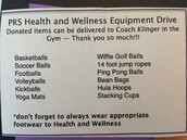 Equipment Drive from Coach