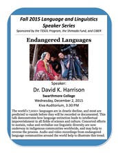 ENDANGERED LANGUAGES Lecture TODAY