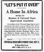 12) Back to Africa Movement