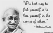 Gandhi was a good man