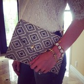 Diamond Rafia Clutch
