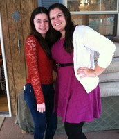 This is my cousin Megan and I on Thanksgiving.