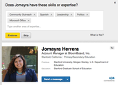 Please note:  Jomayra will be handing out LinkedIn endorsements.