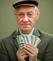 A rich old man, 99% off