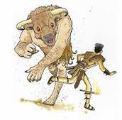 Theseus Defeats the Minotuar