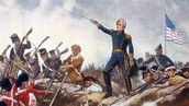 Andrew Jackson defends New Orleans in the war of 1812