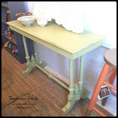 $165 - Celery Green Chalk Paint Entry Table