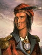 Tecumseh had support from the British    (1809-1813)