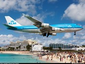 Thousands of people from the crew ships watching KLM land
