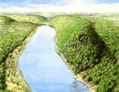 A Hill next to a river