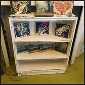 Chippy White Low Bookcase: $145