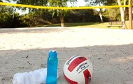 Play a friendly game of volleyball
