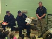 Fireman John read a book.