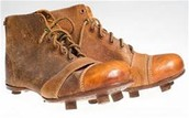 The first soccer cleats!