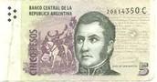 5 Argentine Peso
