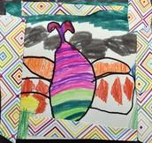 Raadiya's Patterned Butterfly