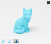 Fox image in Thingiverse