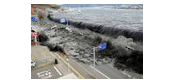 Tsunamis are dangerous! ---->