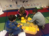exploring hundreds, tens and ones through base 10 blocks