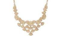 Geneve Lace Bib in Gold