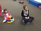 Ms. Caren is having more fun than her students!