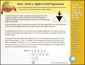 Math Standard of the Week - Algebra II with Trig