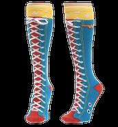 Wonder Woman Faux Lace up Knee Socks