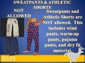 SWEATPANTS, PAJAMAS, & ATHLETIC SHORTS