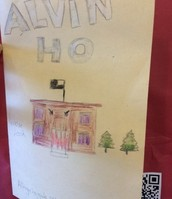 """Alvin Ho"" Book Cover with QR Code by Alexis and Jovany"